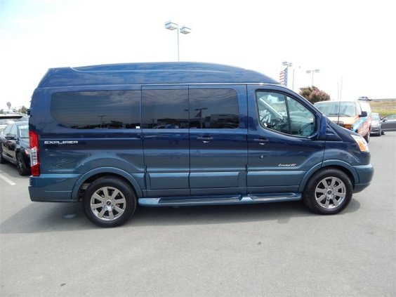 2017 Explorer Van Conversion Ford Transit Blue Jeans