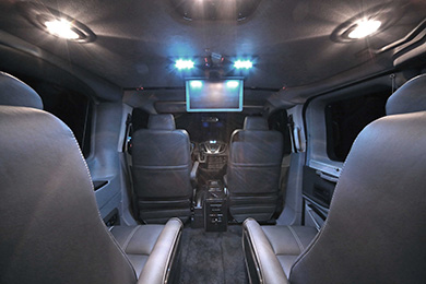 ford explorer transit console view